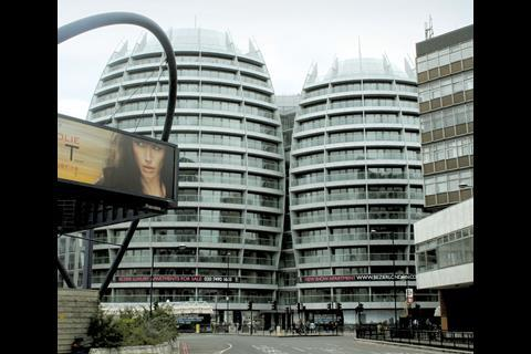 RUNNER-UP: TP Bennett's Bézier apartments overlooking London's Old Street roundabout.